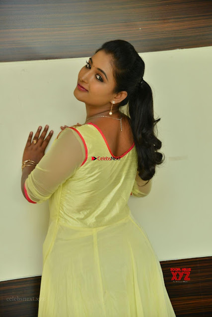 Teja Reddy in Anarkali Dress at Javed Habib Salon launch ~  Exclusive Galleries 002.jpg