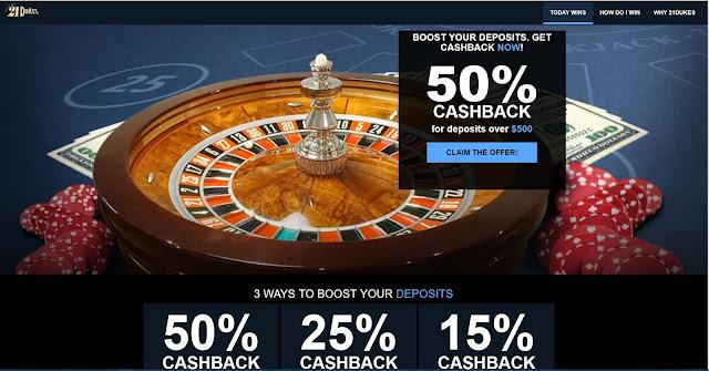 21Dukes Casino cashback