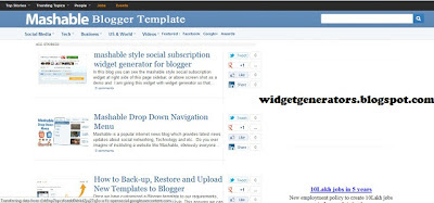Mashable Blogger Template 2014