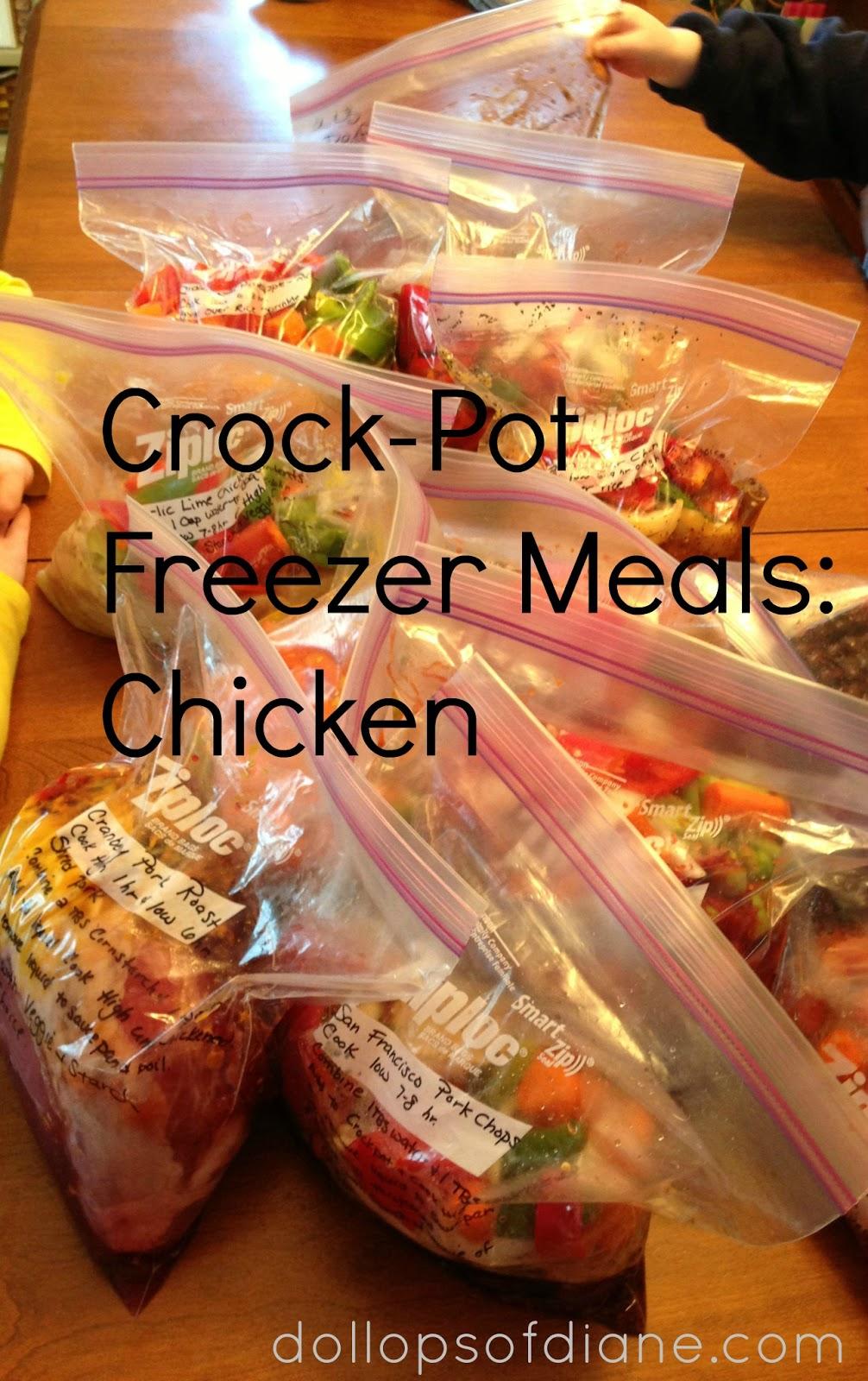 Dollops Of Diane Crock Pot Freezer Recipes Chicken