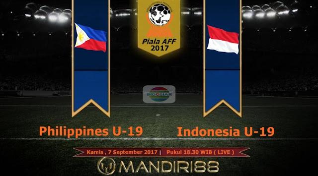 sudah melewati ujian pertama di Piala AFF U Berita Terhangat Prediksi Bola : Philippines U-18 Vs Indonesia U-18 , Kamis 07 September 2017 Pukul 18.30 WIB @ Indosiar