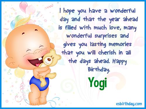 Yogi Happy birthday