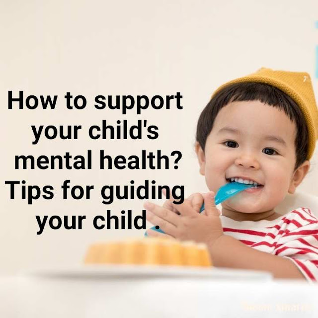 This is a picture representing to take care of child's mental health