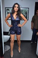 Sanjana looks happy in sparkling short Deep neck Purple Gown ~  Exclusive 59.JPG