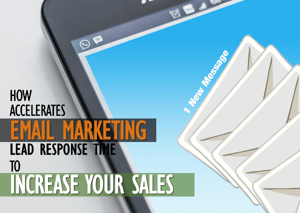 Email marketing accelerates lead response time to increase your sales