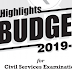 Budget 2019 Highlights by GS Score Download PDF