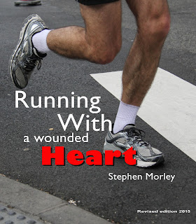 Photo showing book cover of man running and book title.