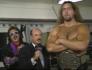WCW The Great American Bash 1996 - Mean Gene interviewed Jimmy Hart & The Giant