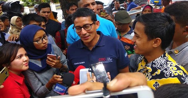 Prabowo Disebut Malas Kampanye, Sandi: Bagian dari Strategi Pemenangan