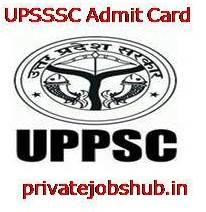 UPSSSC Admit Card