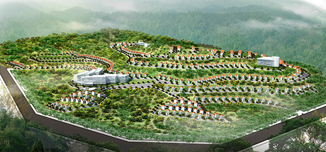 Phối cảnh đồi biệt thự Thuỷ Sản - P. Bãi Cháy - Tp. Hạ Long - Quảng Ninh
