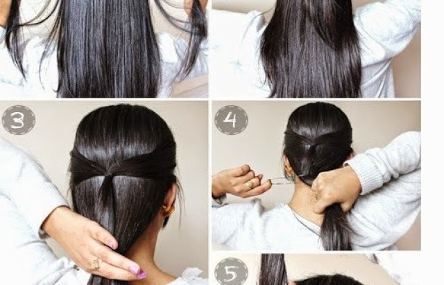 Phenomenal Quick And Easy Updo Hairstyle B Amp G Fashion Hairstyles For Women Draintrainus