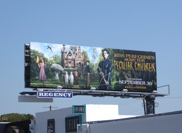 Miss Peregrine's Home for Peculiar Children movie billboard