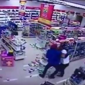 VÍDEO - Assaltante é dominado por Guarda Municipal de Londrina (PR) á paisana ao tentar roubar farmácia