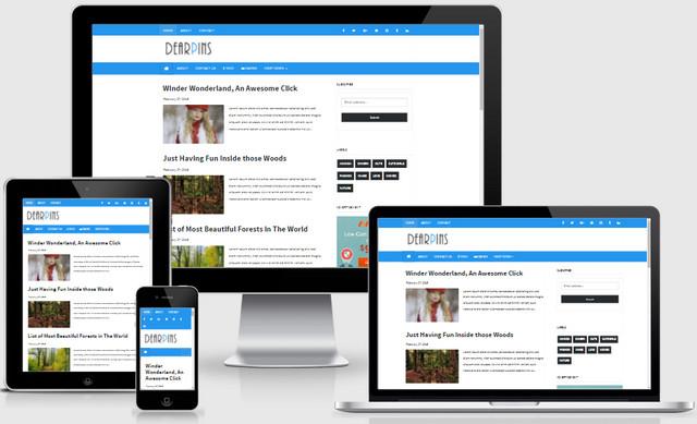 Dearpins Magazine Responsive Blogger Templates