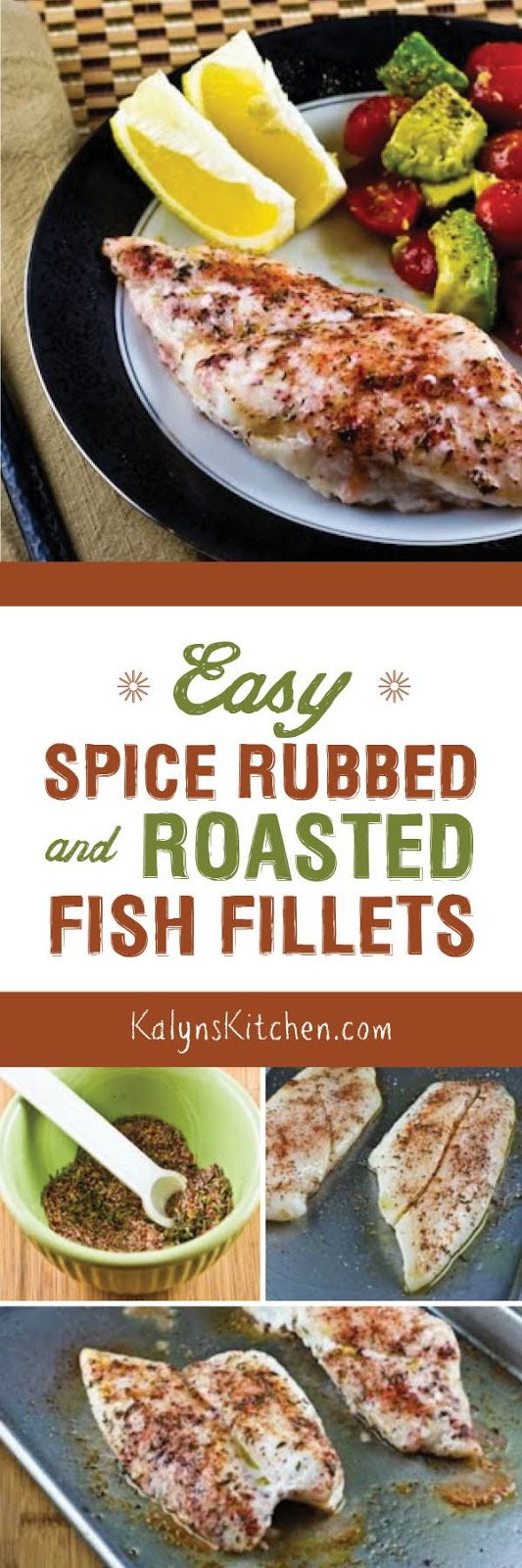 Easy spice rubbed and roasted fish fillets kalyn 39 s kitchen for Low carb fish recipes