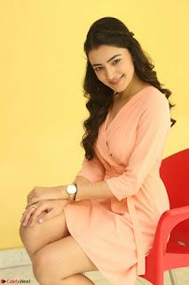 Rukshar Mir in a Peachy Deep Neck Short Dress 030.JPG