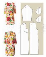 vestido recto con manga