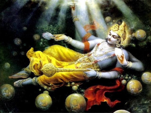 Om Namo Narayana. Om Namo Kesava. Om Namo Brahma.
