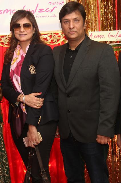 Designer Charu Parashar with Anupam Parashar