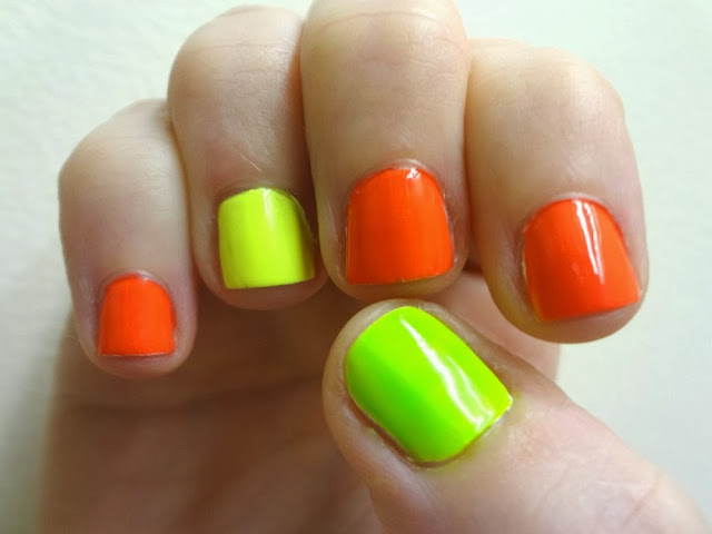 aka Bailey: Neon Jeans, Neon Nails