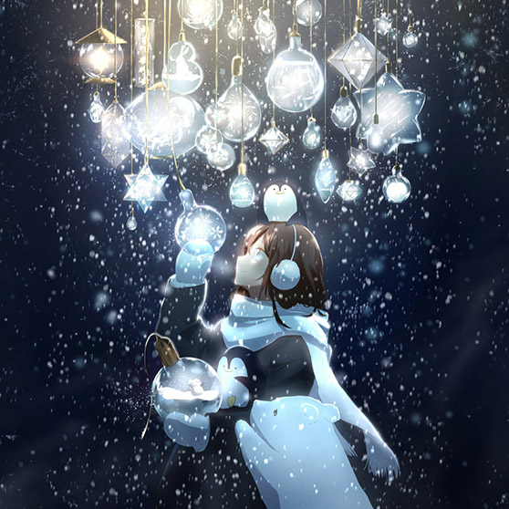 Winter Sample Snow Girl Wallpaper Engine