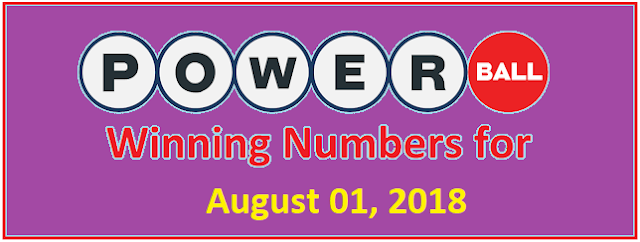 PowerBall Winning Numbers for Wednesday, 1st August 2018
