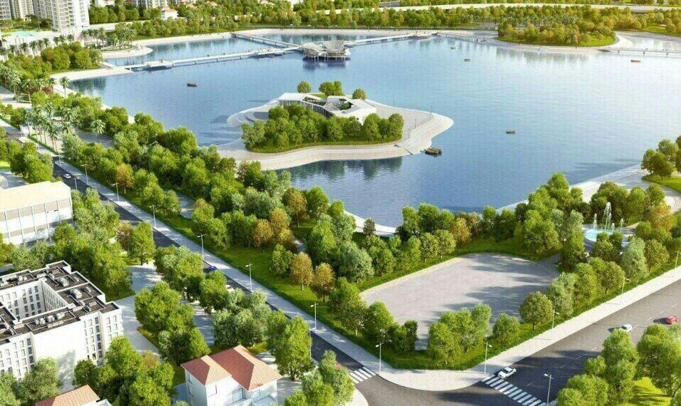 View hồ cảnh quan dự án Vinhomes Melodia – Hình ảnh minh họa