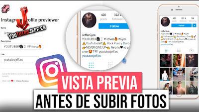Mira como Quedaría tu Instagram Antes de Subir Fotos