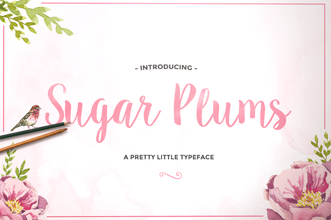 Sugar Plums Script - Sweet Type