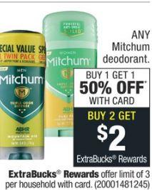 Mitchum men's or women 48 Hour protection deodorant