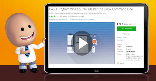 [100% Off] BASH Programming Course: Master the Linux Command Line!| Worth 195$
