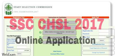 chsl 2017 Online Application