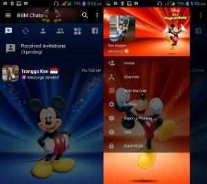 BBM MOD Tema Mickey Mouse v3.3.0.16 APK Versi Terbaru