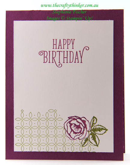 #cardmaking, #stampinup, Graceful Garden, Labels to Love, #thecraftythinker, Stampin Up Australia Demonstrator, Stephanie Fischer, Sydney NSW