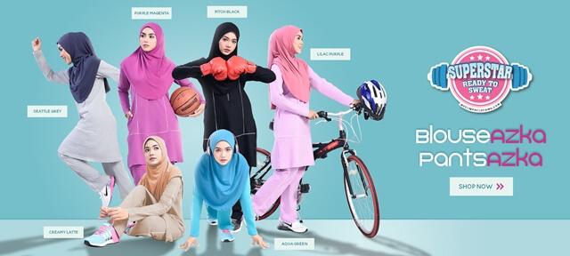 pakaian sukan wanita