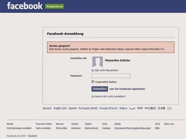 Facebook Account gesperrt, weil er nicht meinen Personalausweis-Namen trug?