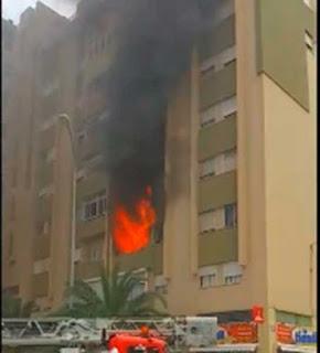 Incendio barrio de La Feria donde ha muerto una mujer