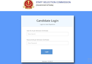 SSC Stenographer Grade 'C' & 'D' Examination 2018 Answer Key Released