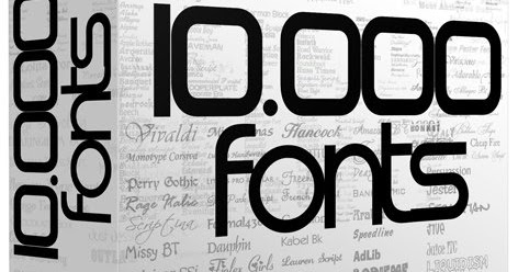 10000 Huge Collection of Fonts For PC - Free Download