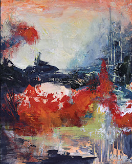 abstract acrylic landscape