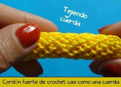 Cordon de crochet tejiendo cuerda tutorial