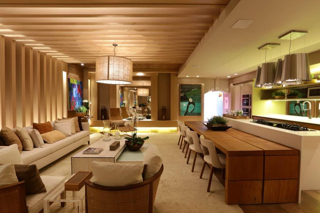 à funcionalidade, o Home Gourmet inclui cozinha e sala de visitas
