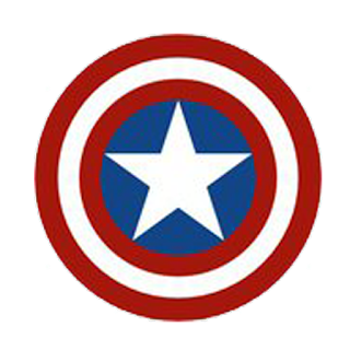 Logo dream league soccer captain america