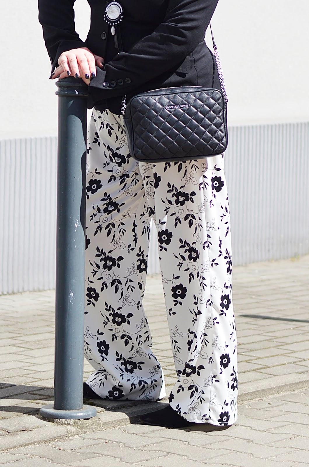 pajamas Pants, Black and white pajamas pants