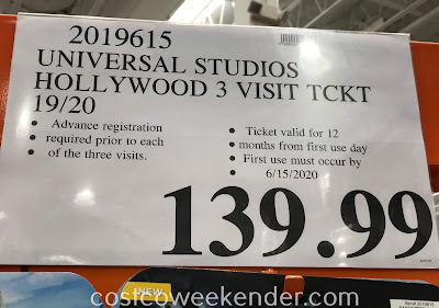 Deal for 3 visits at Universal Studios Hollywood at Costco