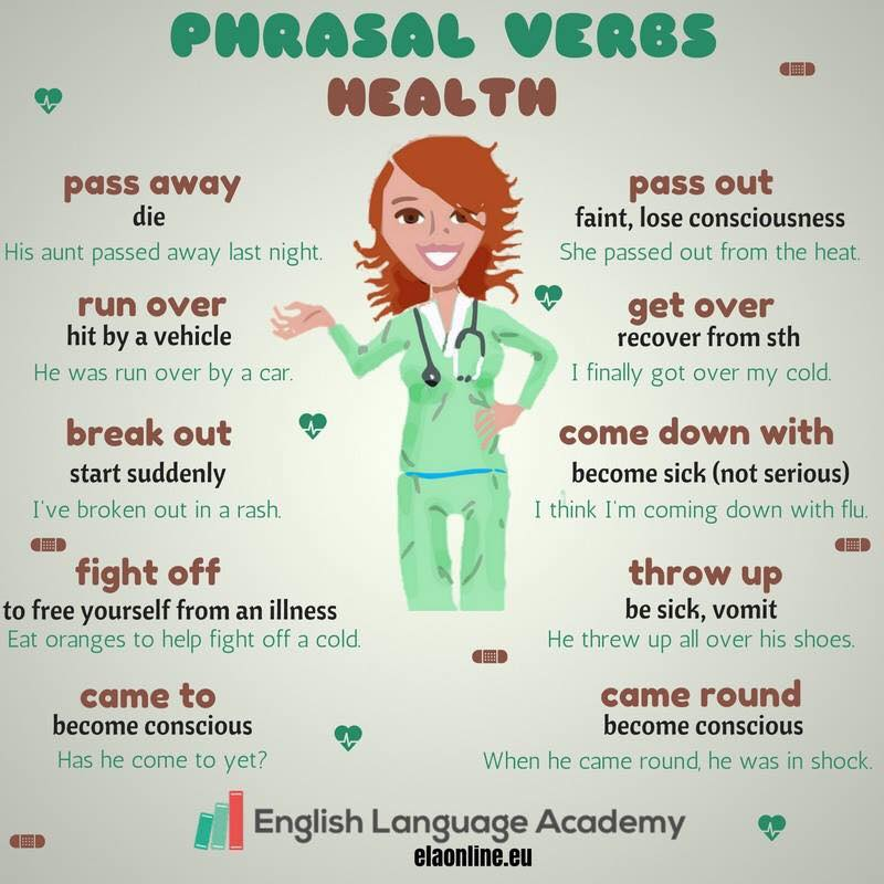 Click on: PHRASAL VERBS: HEALTH
