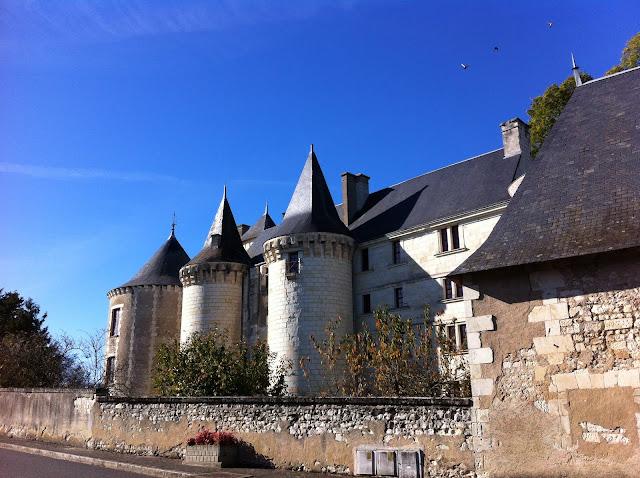 Chateau de La Guerche against a blue sky