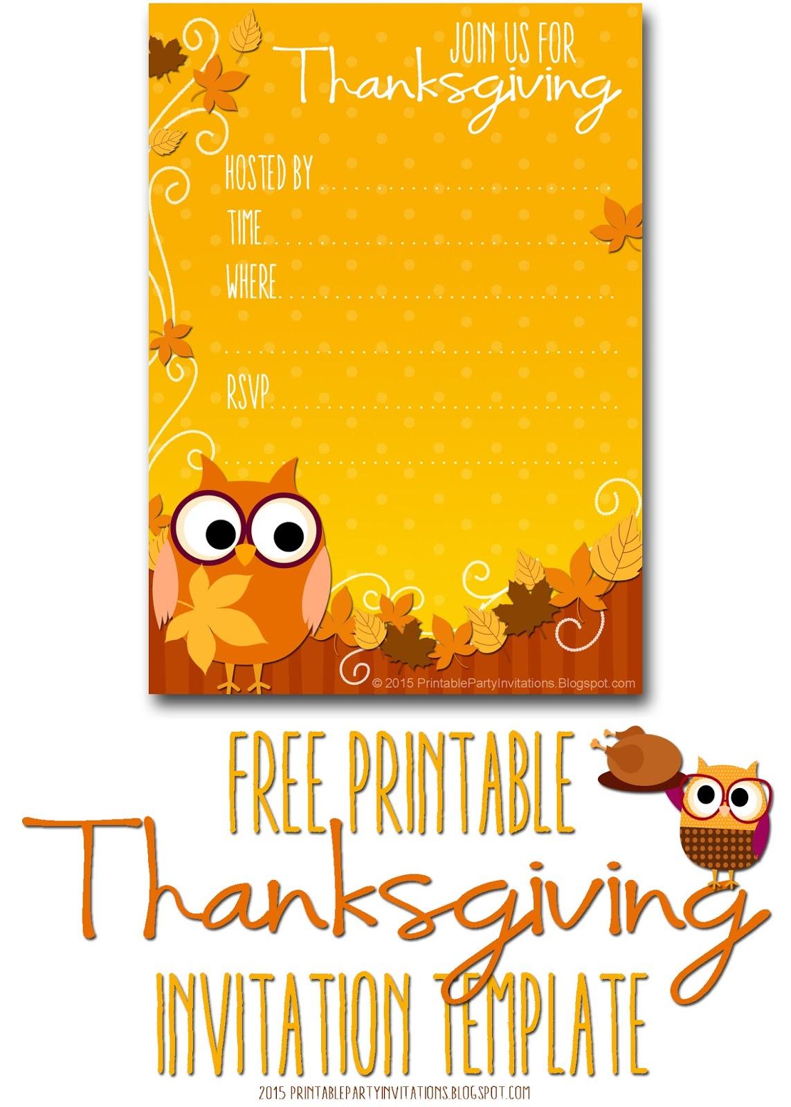 Versatile image in free printable thanksgiving invitations