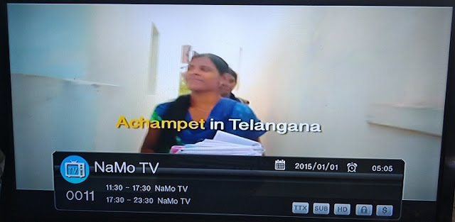 NAMO TV Channel launched and added on Dish TV and Videocon DTH